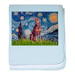 Starry / Red Doberman baby blanket