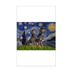 Starry Night / 2 Dobies Posters