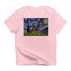 Starry Night / 2 Dobies Infant T-Shirt