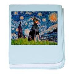 Starry Night Doberman baby blanket