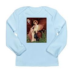Seated Angel & Dobie Long Sleeve Infant T-Shirt