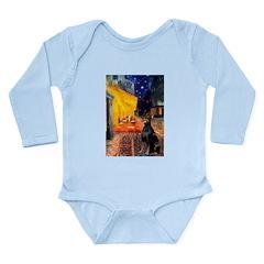 Cafe & Doberman Long Sleeve Infant Bodysuit