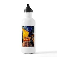 Cafe & Doberman Water Bottle