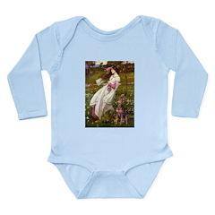 Windflowers / Dobie (#8) Long Sleeve Infant Bodysu