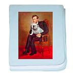 Lincoln's English Bulldog baby blanket