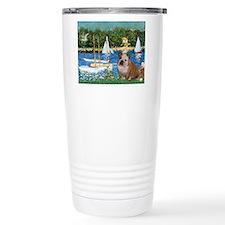 Sailboats /English Bulldog Travel Mug