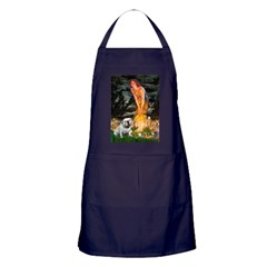 Fairies / English Bulldog Apron (dark)