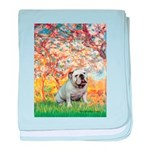 Spring/ English Bulldog (#9) baby blanket