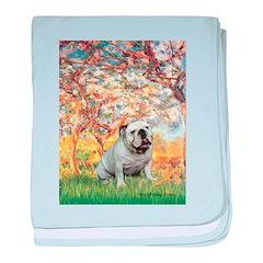 Spring/ English Bulldog (#9) baby blanket