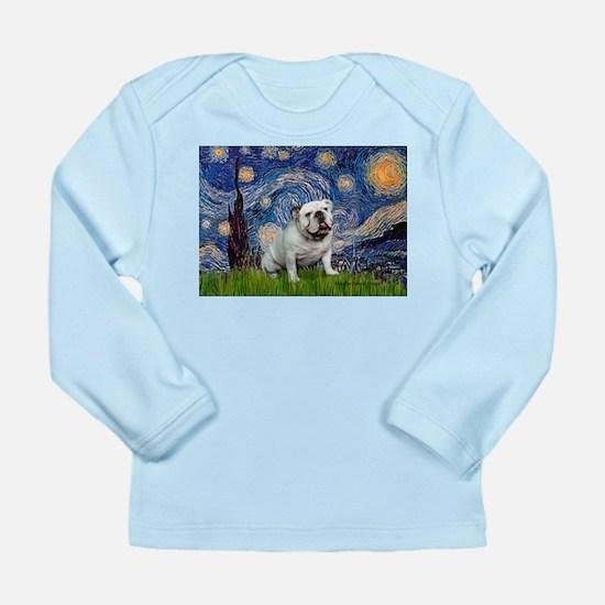Starry Night English Bulldog Long Sleeve Infant T-