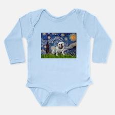 Starry Night English Bulldog Long Sleeve Infant Bo
