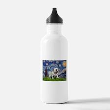 Starry Night English Bulldog Water Bottle