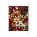 The Path / Two English Bulldogs Mini Poster Print