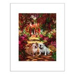 The Path / Two English Bulldogs Small Poster