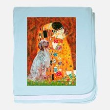 The Kiss / English Setter baby blanket