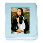 Mona Lisa/English Springer baby blanket