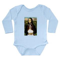 Mona/ English Springer Long Sleeve Infant Bodysuit