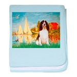 Sailboats / Eng Spring baby blanket