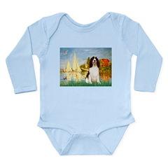 Sailboats / Eng Spring Long Sleeve Infant Bodysuit