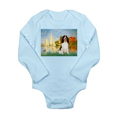 Sailboats / Eng Spring Long Sleeve Infant Bodysuit