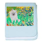 Irises / Eskimo Spitz #1 baby blanket
