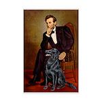 Lincoln / Flat Coated Retriev Mini Poster Print