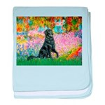 Flat Coated Retriever 2 baby blanket