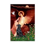 Angel / Flat Coated Retriever Mini Poster Print