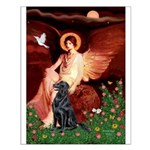 Angel / Flat Coated Retriever Small Poster