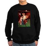 Angel / Flat Coated Retriever Sweatshirt (dark)