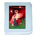 Angel / Flat Coated Retriever baby blanket
