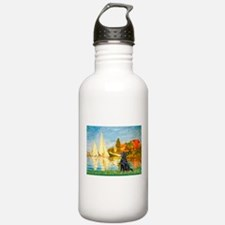 Sailboats / Flat Coated Retri Water Bottle