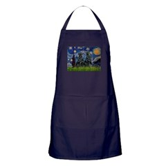 Starry / Two Flat Coated Ret Apron (dark)