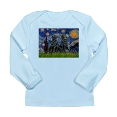 Starry / Two Flat Coated Ret Long Sleeve Infant T-