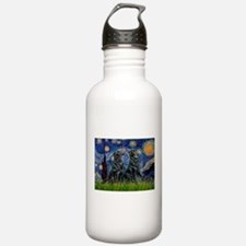 Starry / Two Flat Coated Ret Water Bottle