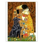 Kiss / Flat Coated Retriever Small Poster