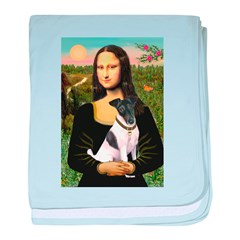 Mona's Smooth Fox Terrier (Bl baby blanket