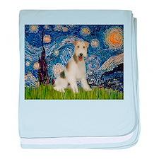Starry / Fox Terrier (W) baby blanket