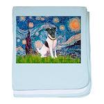 Starry / Fox Terrier (#1) baby blanket