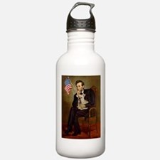 Lincoln/French Bulldog Water Bottle