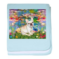 Lilies / Fr Bulldog (f) baby blanket