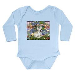 Lilies / Fr Bulldog (f) Long Sleeve Infant Bodysui