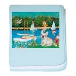 Sailboats / Fr Bulldog(f) baby blanket