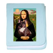Mona / Fr Bulldog(brin) baby blanket