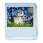 Starry / Fr Bulldog (f) baby blanket
