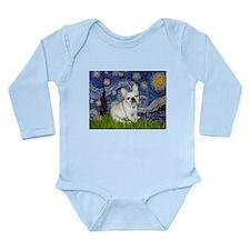 Starry / Fr Bulldog (f) Long Sleeve Infant Bodysui