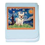 Starry/French Bulldog baby blanket