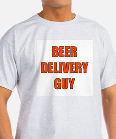 Beer Delivery Guy Ash Grey T-Shirt