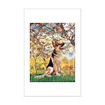 Spring & German Shepherd Mini Poster Print