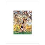 Spring & German Shepherd Small Poster